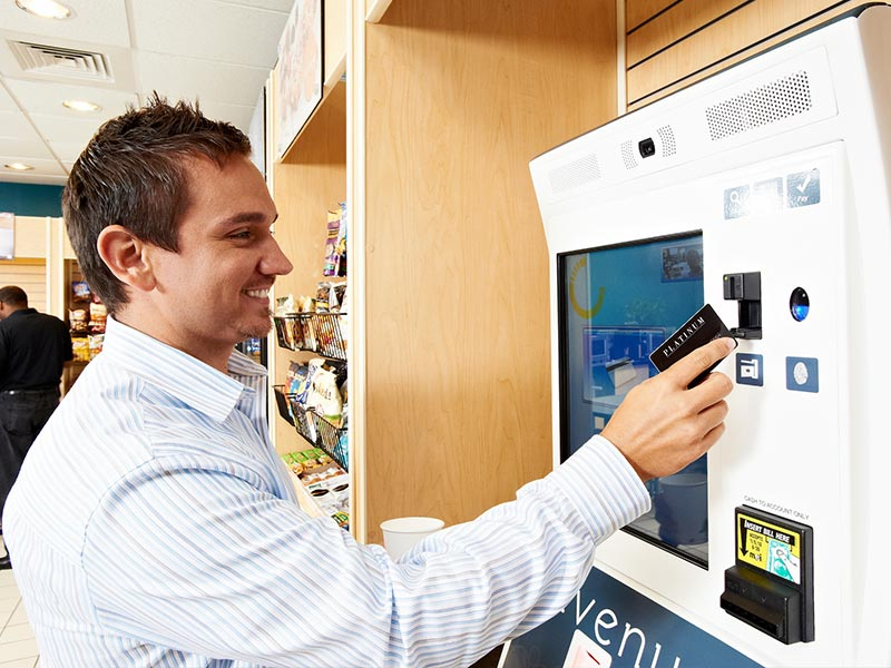 Wisconsin self-serve kiosk in an office micro-market